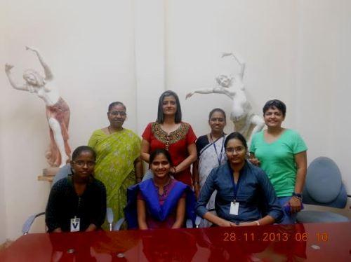 Manisha and Supriya with our students